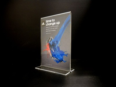"Acrylic Bottom Loading Display Sign Holder 11"" x 8.5"""