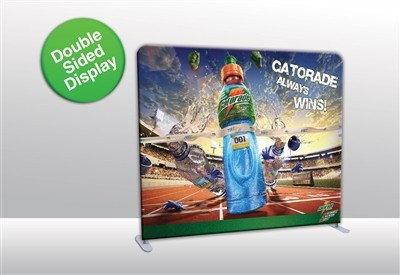 10 ft Straight Tube Display with Double Sided Fabric Print