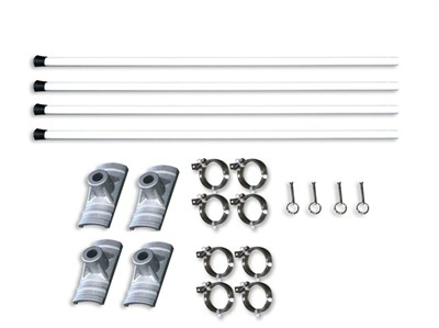 Street Pole Banner Brackets 18 Double Set - Hardware Only