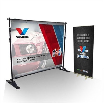 Trade Show Display Kit with 8 x 8 Backdrop
