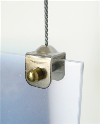 Cable Display Systems: Clevis Clamp with Cable