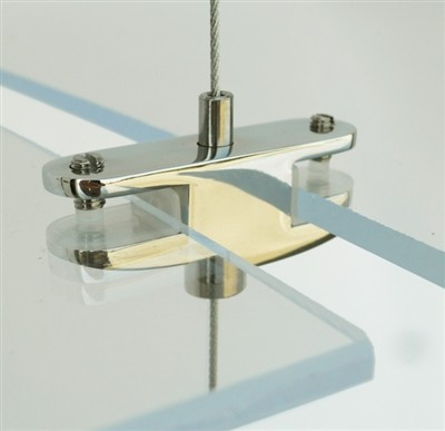 Cable Display Systems: Double-Sided Clamp