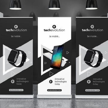 Banner Stands Carbon Repro